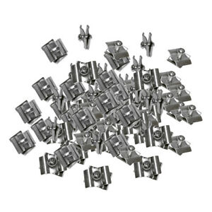 100 Chrome Wire Grid Connector Clamp Joiner Gridwall Panel Wire Cube Clip Snap