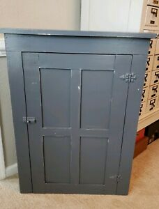 Primitive Country Hanging Wall Cupboard Cabinet Farmhouse Rustic Wood Vintage