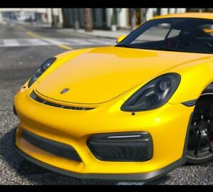 Porsche Gt4 Front Bumper 981 Update Bumper Boxster 981 Cayman 2012 To 2016 Poly