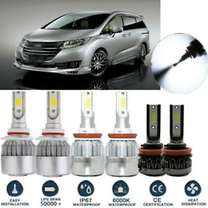 6pcs Cob Led Headlight Conversion Kit Beam Fog Lights For Honda Odyssey 11 18