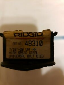 Ridgid 48310 Bolt Threader Dies 7 16 Inch Rod 20 Tpi Unf Rh High speed