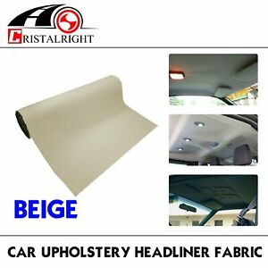 Durable Car Headliner Upholstery Fabric Foam Decorate Diy 60 X60 5 X5 Beige