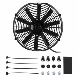 14 Inch Slim Push Pull Electric Radiator Cooling Fan 12v Mount Kits Universal Wd