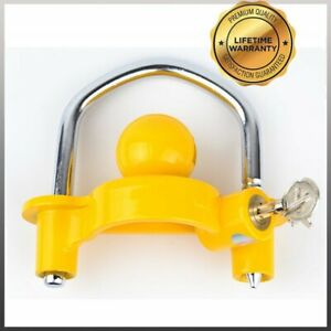 Universal Coupler Hitch Trailer Lock Fits Ball Tongue 1 7 8 2 And 2 5 16