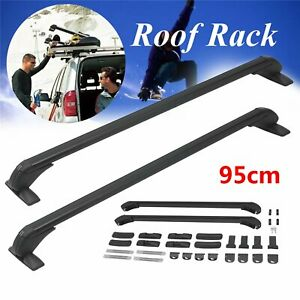 2x 37 5 Car Cross Bar Top Luggage Roof Rack Cargo Carrier Aluminum Universal