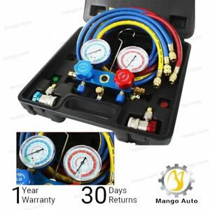 R134a Hvac A C Refrigeration Kit Ac Manifold Gauge Set Auto Service Kit