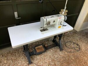 Pfaff 1245 Industrial Walking Foot Sewing Machine With Stand And Motor