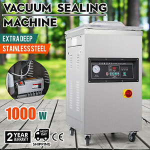 1000w Vacuum Packing Sealing Sealer Machine Extra Deep 20m h Power Commercial