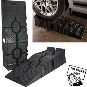 16000 Lb Heavy Duty Plastic Ramps Truck Suv Trailer Car Oil Change Lift Tool New