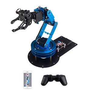 Lewansoul Learm 6dof Full Metal Robotic Arm With Servo Controller Wireless Pc