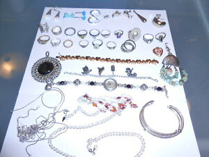 Large Lot Of Sterling Silver Jewelry Scrap Or Not