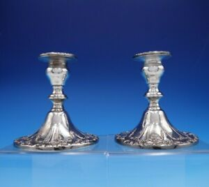 Chantilly By Gorham Silverplate Candlestick Pair 4 1 4 Yc3004 3237
