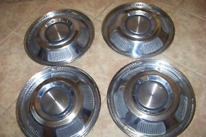 Set Of 4 1966 Mercury Comet Hubcaps