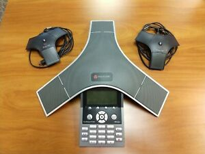 Polycom Soundstation Ip 7000 Conference Phone 2201 4000 001 With 2x Extended Mic