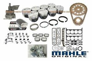 Chevy 350 5 7 Master Engine Rebuild Kit Dish Pistons Cam Timing Bearings 1969 79