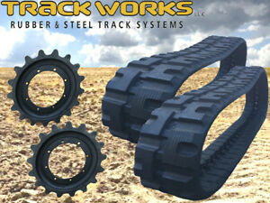 Pair Of John Deere Ct323d Ct322 Rubber Tracks With 2 Sprockets 320x86x52