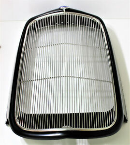 1932 Ford Grille Insert Stainles Steel With Anti Rattle Bars Hot Rod Rat Rod