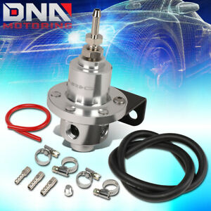 Nrg Frg 100s Universal Aluminum Adjustable Fuel Pressure Regulator Kit W Hoses