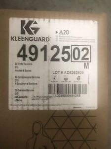 New Box Of 24 Kimberly Clark Kleenguard 49125 A20 2xl Coveralls Hooded