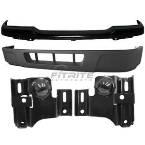 2004 2005 Ford Ranger Front 4 Pcs Kit Includes Bumper Cover Lower Valance Panel
