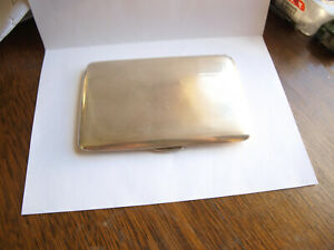 English Sterling Silver Cigarette Case Marked Jd S J Dixon And Son Birmingham