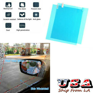 Car Rear View Mirror Side Windshield Anti Fog Nano Coating Glass Protective Film
