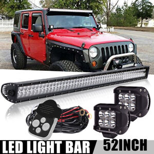 52inch 300w Led Work Light Bar Combo Offroad Driving For 4wd Suv Ute