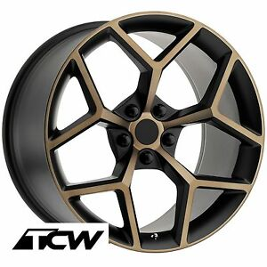 20 Inch 20x9 Chevy Camaro Z28 2014 Oe Replica Black Bronze Wheels Rims 5x120 30