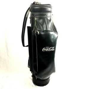 Vintage Coca Cola Golf Bag Black Hot-Z Made in USA Faux Leather