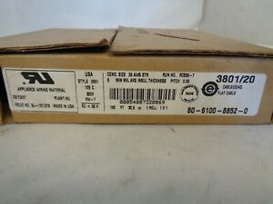 New 3m 2651 Flat Cable 100 ft 3801 20 26awg Str