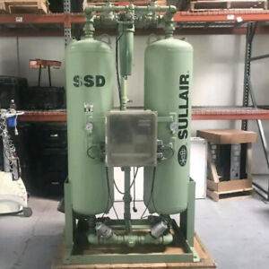 Used Sullair Heatless Regenerative Desiccant Air Dryer 500 Cfm Ssd500 115 Volt