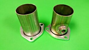 2 5 Header To 2 5 Od 409 Stainless W 02 Bung 3 Bolt Gasket Style Collector Usa