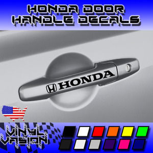 4x Honda Door Handle Decal Sticker Accord Civic Turbo Type S R Jdm Vtec