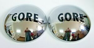 Set Of Two Vintage gore Horse Trailer Dog Dish Hub Cap 10