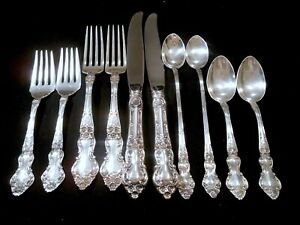 Classic Wallace Sterling Silver Place Settings And Matching Serving Pieces