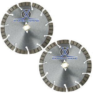 2pack 14 Turbo Segmented Diamond Blade Slanted Keyhole Gullet Stucco Sandstone