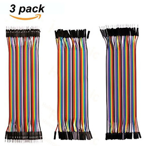 Haitronic 120pcs 20cm Length Jumper Wire dupont Cable Multicolored10 Color 40pin