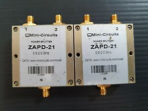 Lot Of 2 Mini circuits Splitters Combiners Couplers Mixer See Inside The Listing