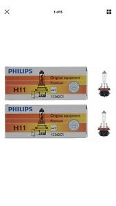 3 Day Sale 2x Philips H11 High Quality Vision 12362 Halogen Light Bulb Lamp
