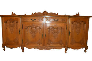 Vintage French Louis Xv Server Sideboard Buffet 1940 S