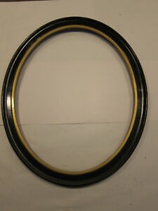 Antique Oval Wooden Picture Frame Black Gold Gilt Fits 16x20 American