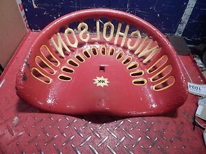 Vintage Cast Iron Tractor Farm Implement Seat Nicholsons Reverse Back Antique