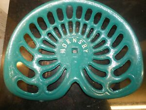 Hornsby Vintage Cast Iron Tractor Implement Seat Farm Collectables