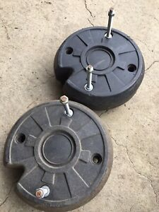 Simplicity Broadmoor Lawn Mower Tractor Set Of 35lb Wheel Weights With Hardware!