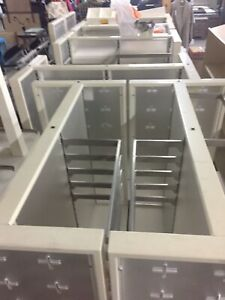 Retail Adjustable Store Shelving Lot Nice Made Of Wood And Steel tons Of Extras