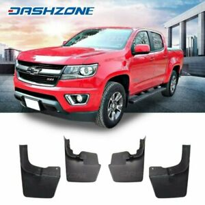 Front Rear Splash Mud Guards Flaps Fit 2015 2019 Chevy Colorado W o Fender Flare