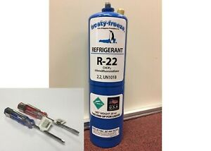 R22 Refrigerant R 22 Air Conditioner Large 28 Oz Can No Taper Needed Kit P