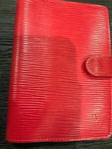 Authentic Louis Vuitton Epi Leather Day Planner Case Cover Agenda Pm Red Spain