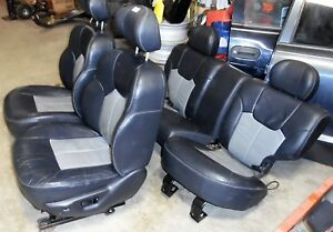 2004 Jeep Grand Cherokee Overland Front Back Seats Oem