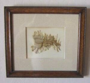 Antique Raised Silk Hand Embroidery Framed Item